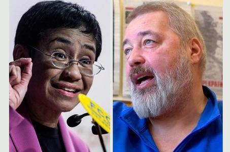 Premio Nobel per la Pace, ai giornalisti Maria Ressa e Dmitrij Muratov