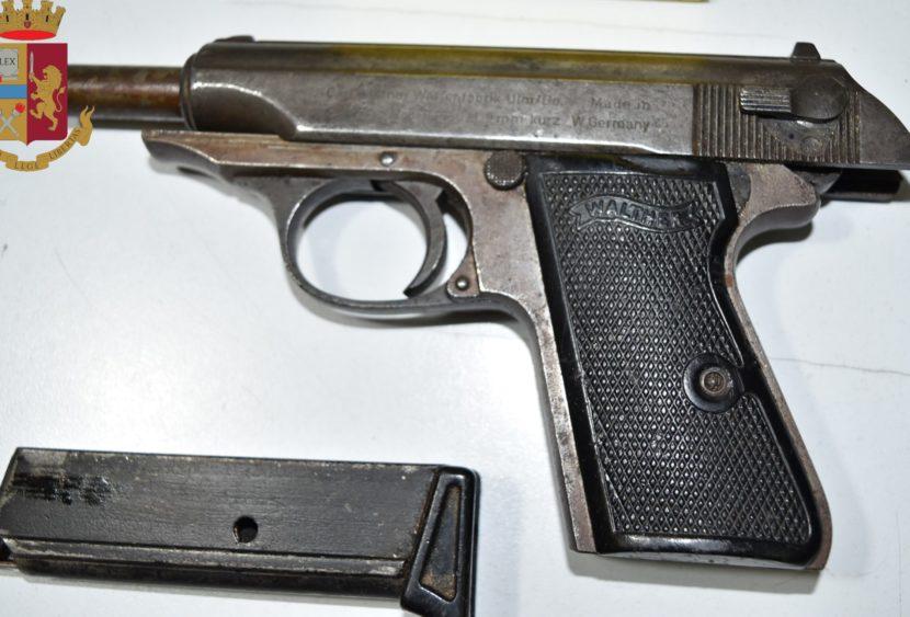 Sottoposto a fermo: 27enne deteneva illegalmente arma da fuoco